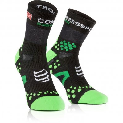 COMPRESSPORT Proracing v2.1 Hi skarpety do biegania Zielony, Czarny
