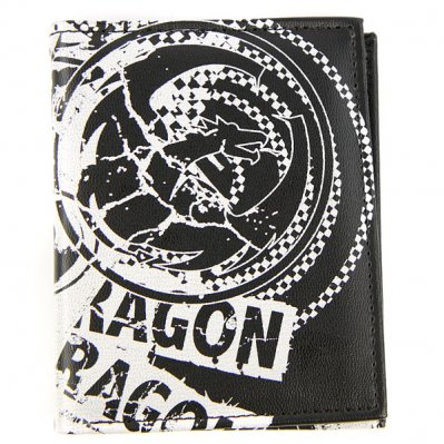 DRAGON Mad Print portfel Czarny