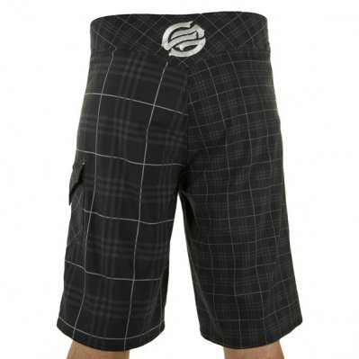 SANTA CRUZ Outplaid boardshorty Czarny