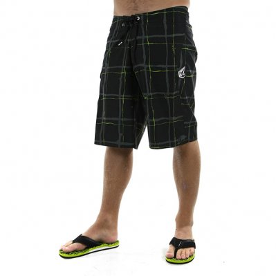 VOLCOM Maguro Plaid boardshorty Czarny
