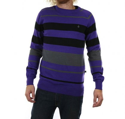 VOLCOM One Way Too sweter Fioletowy