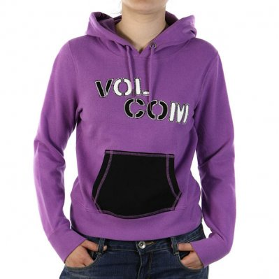 VOLCOM Up In Lights bluza z kapturem damska Fioletowy