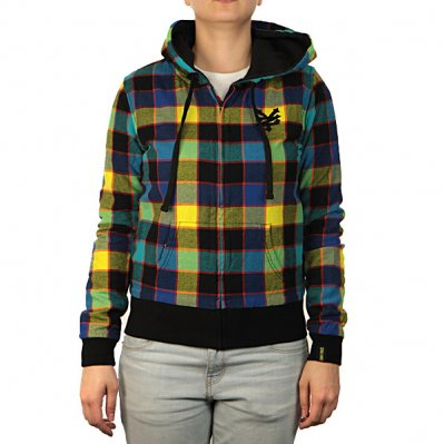 ZOO YORK Plaid Rev bluza z kapturem damska
